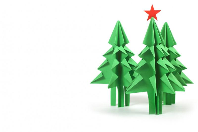 Come fare un albero di Natale origami