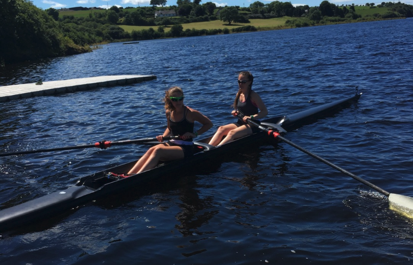 Tara Hanlon and Amy-Kate Mason Training in the WinTech Cobra Pair