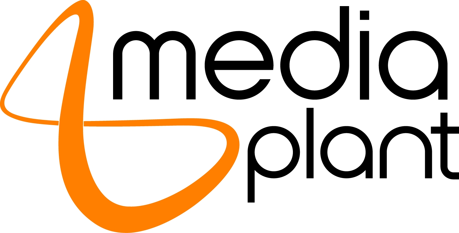 Media Plant Logo Version 3 Cmyk Black Solid