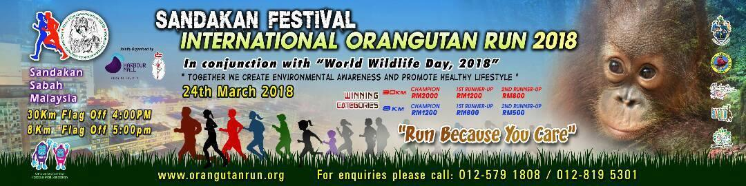 Run For The Orangutan 2018 Banner