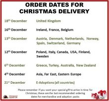 Order Dates For Christmas Delivery 2018