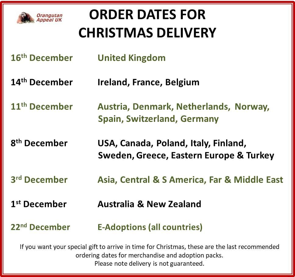 Last Order Dates For Christmas 2020