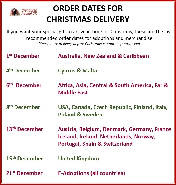 Order Dates for Christmas Delivery 2021