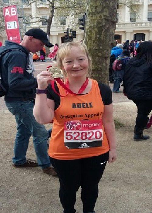 Adele at the finish