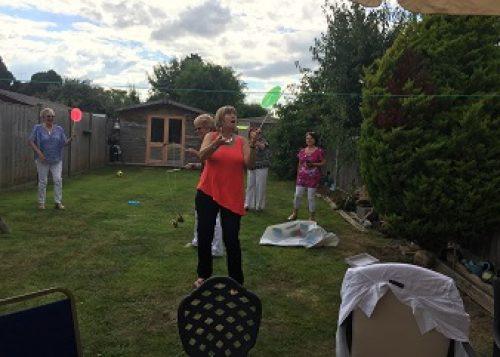 Garden games at Caroline Tippen's Garden Party