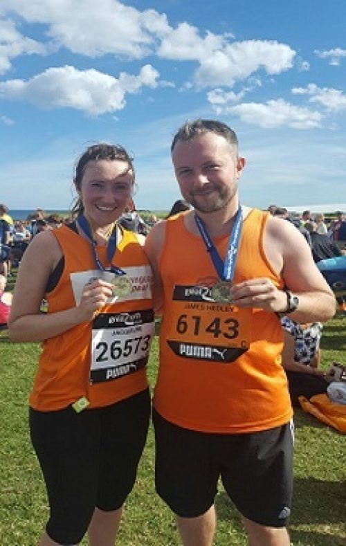 James and Jacqueline at the Great North Run