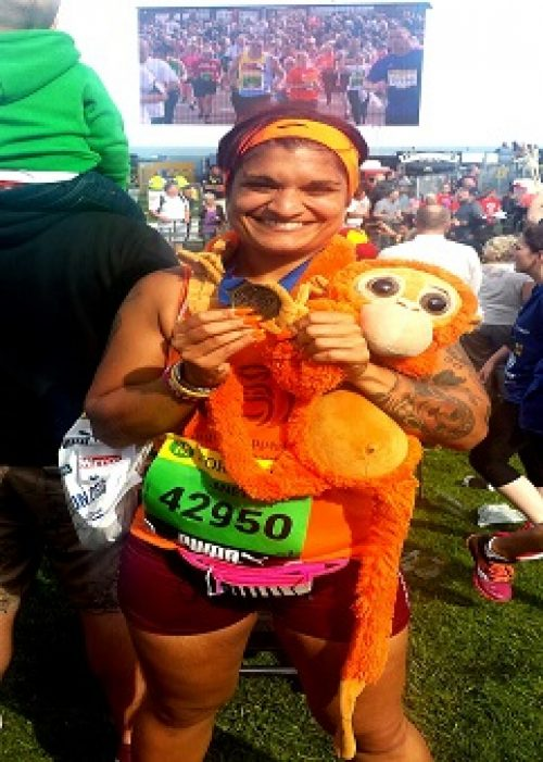 Janet Clark at the Great North Run