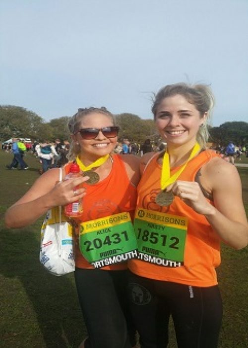 Kirsty and Alice Calnan at the Great South Run