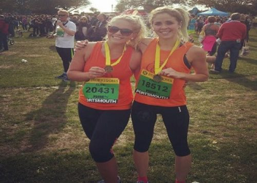 Kirsty and Alice at the finish line