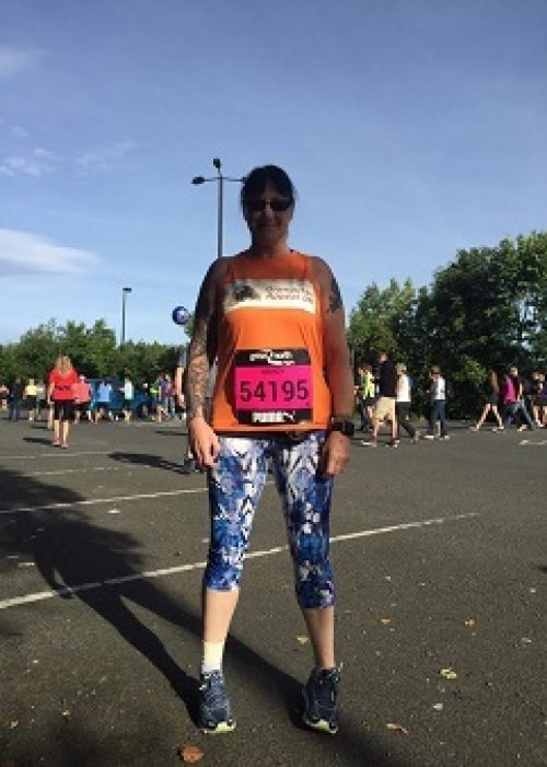 Mandy Gisbourne at the Great North Run