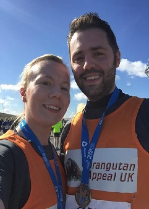 Mark and Jemma completed the Derby 10k