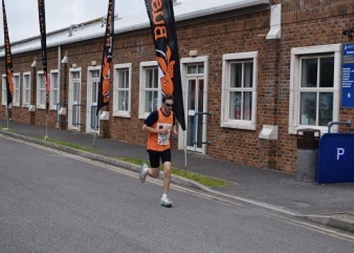 Matthew Hockham completed the Weymouth Sprint Triathlon