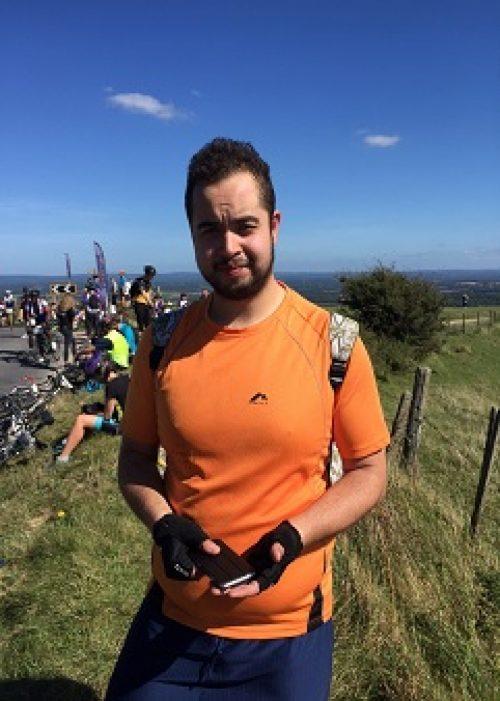 Nathan Marks at the London to Brighton cycle