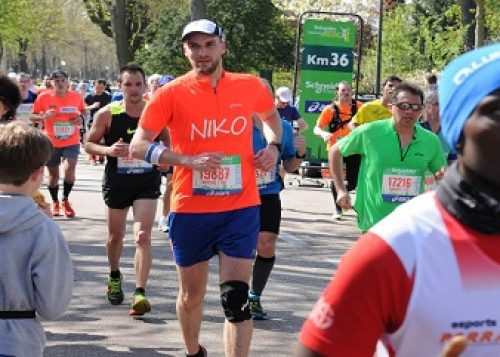 Nicolas Pilate at the Paris Marathon