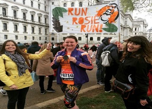 Rosie Wilson at the London Marathon