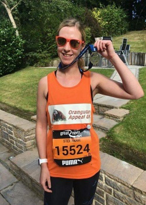 Stephanie Hodgson at the Great North Run