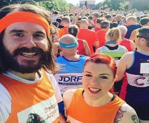 Tara and Chris at the Great North Run