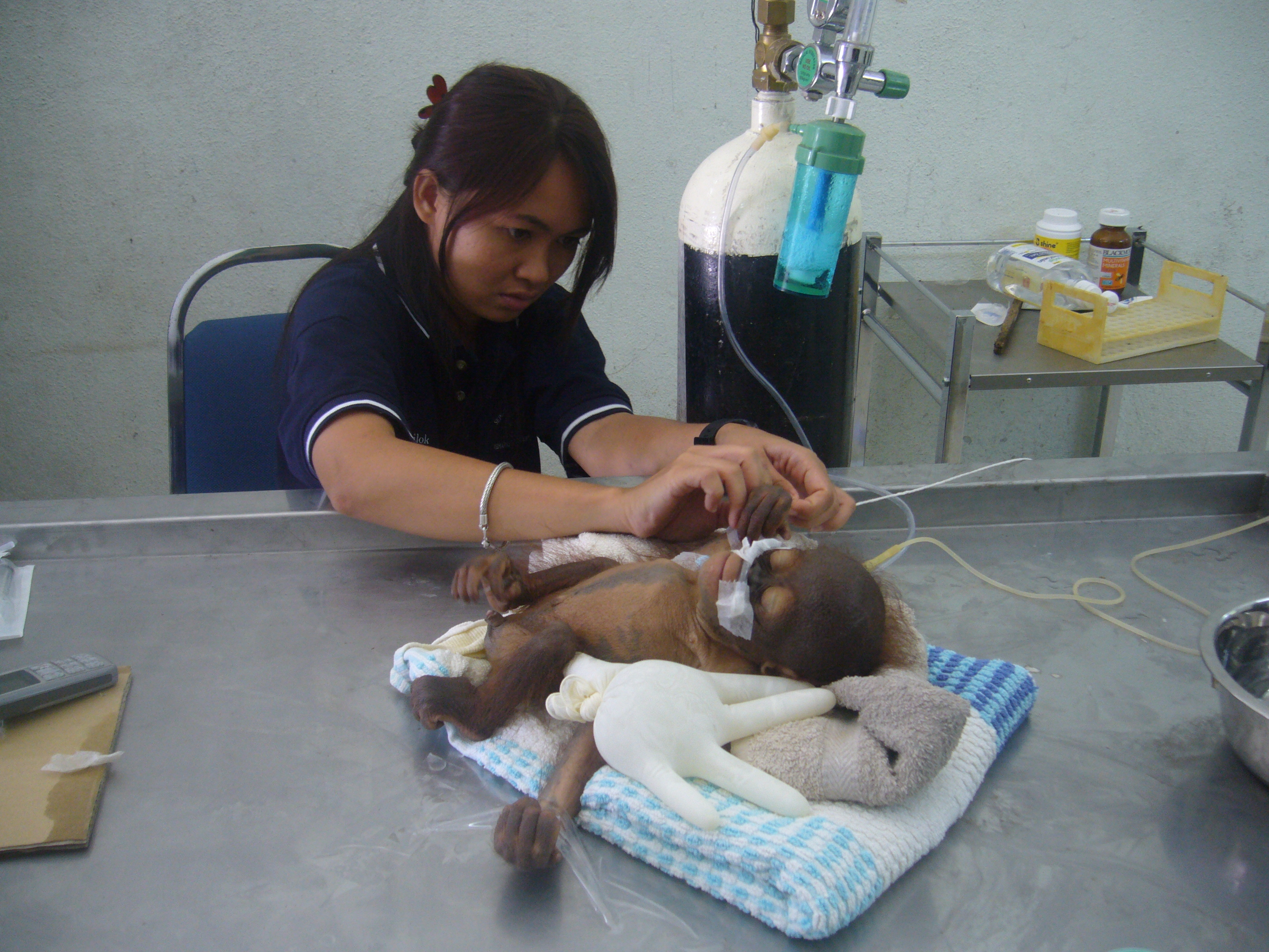 Dr C Treating Baby Ceria On His Arrival