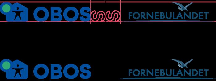 Illustrasjon av plassering av to logoer