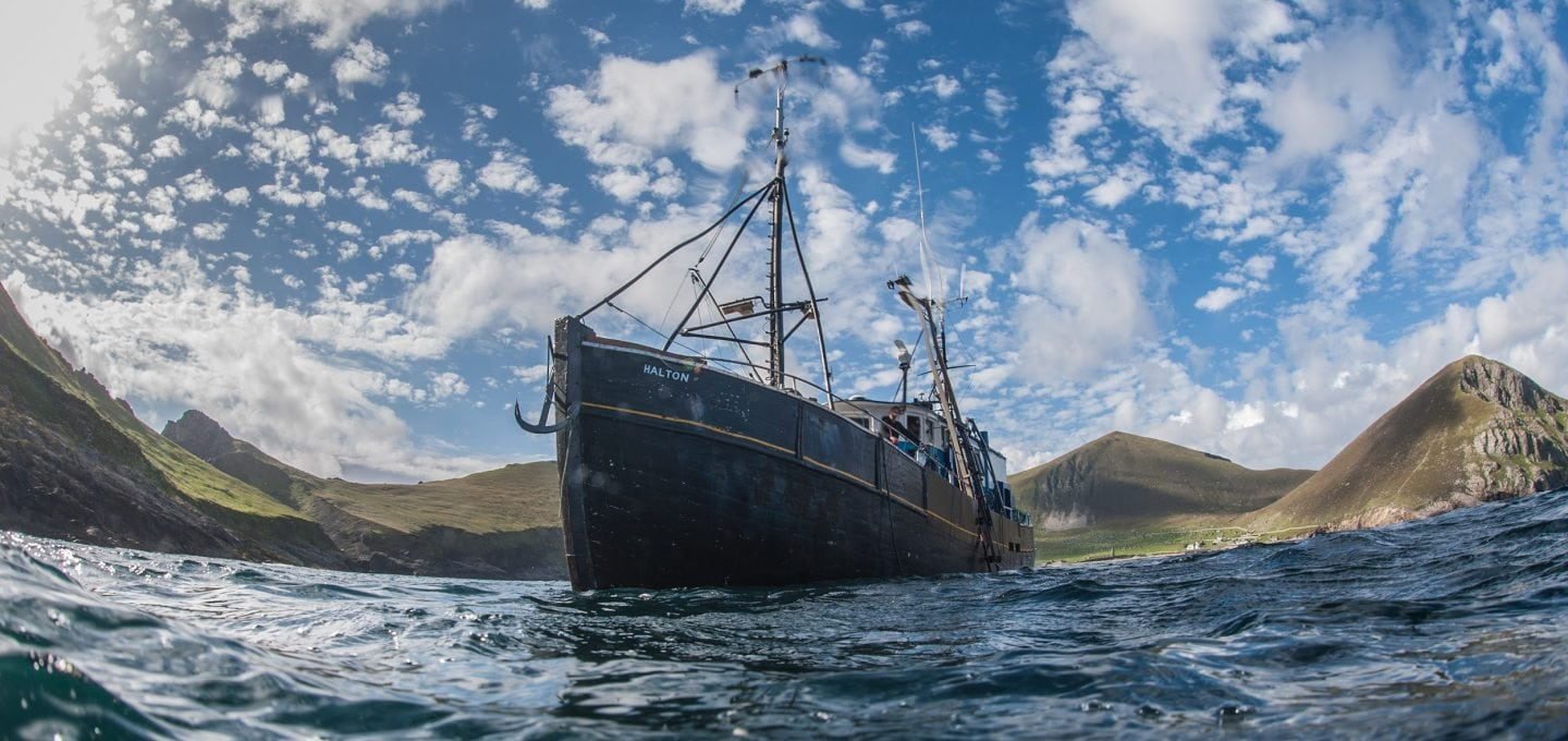 Boat, expedition, St Kilda, diving