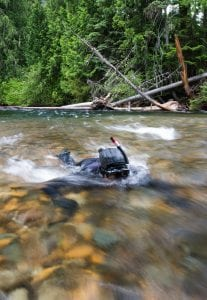 River snorkelling, river photography, underwater photography.