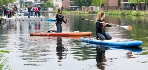 Lizzie carr plastic patrol paddleboarding hackney marshes