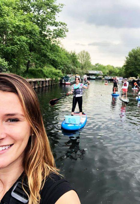 Lizzie carr plastic patrol paddleboarding hackney