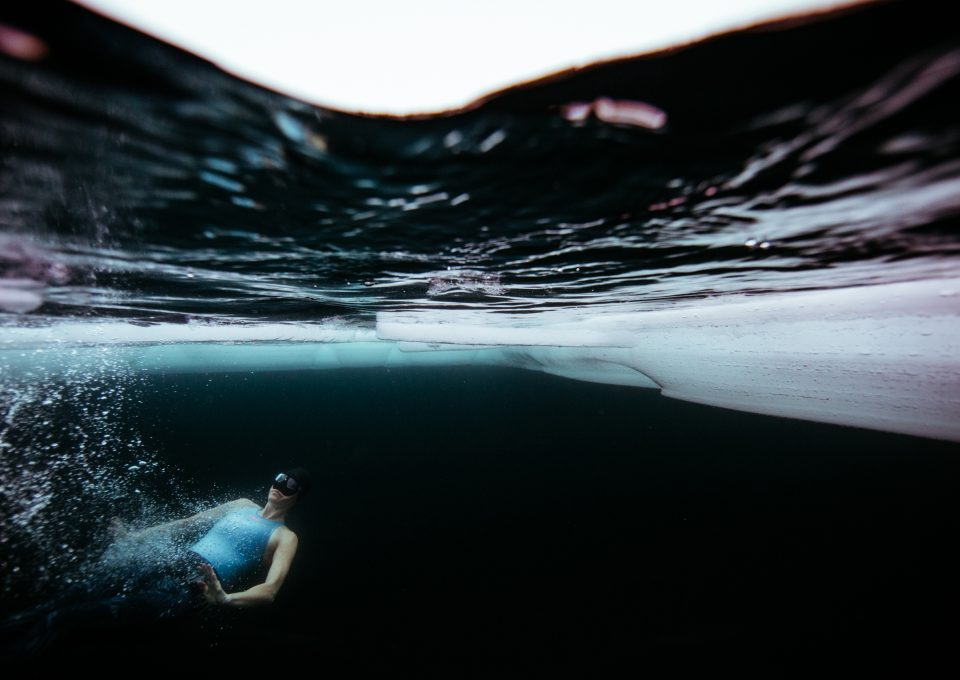 ice-freediving-freediver-finland-johanna-nordblad-world-record