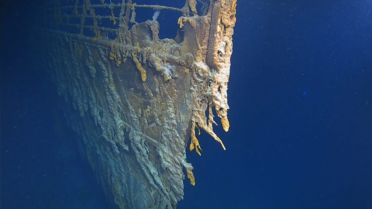 titantic shipwreck bow EYOS Expeditions dive Five Deeps