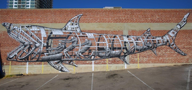 tre packard pangea seed sea walls ocean activism conservation artivism shark san diego public art