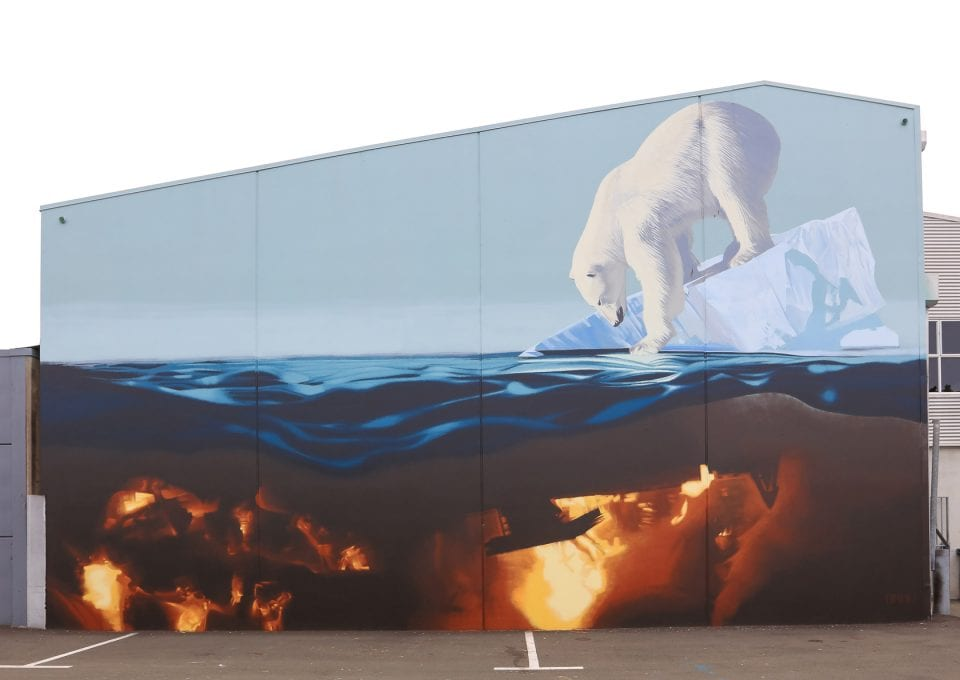 tre packard pangea seed sea walls ocean activism conservation artivism polar bear public art
