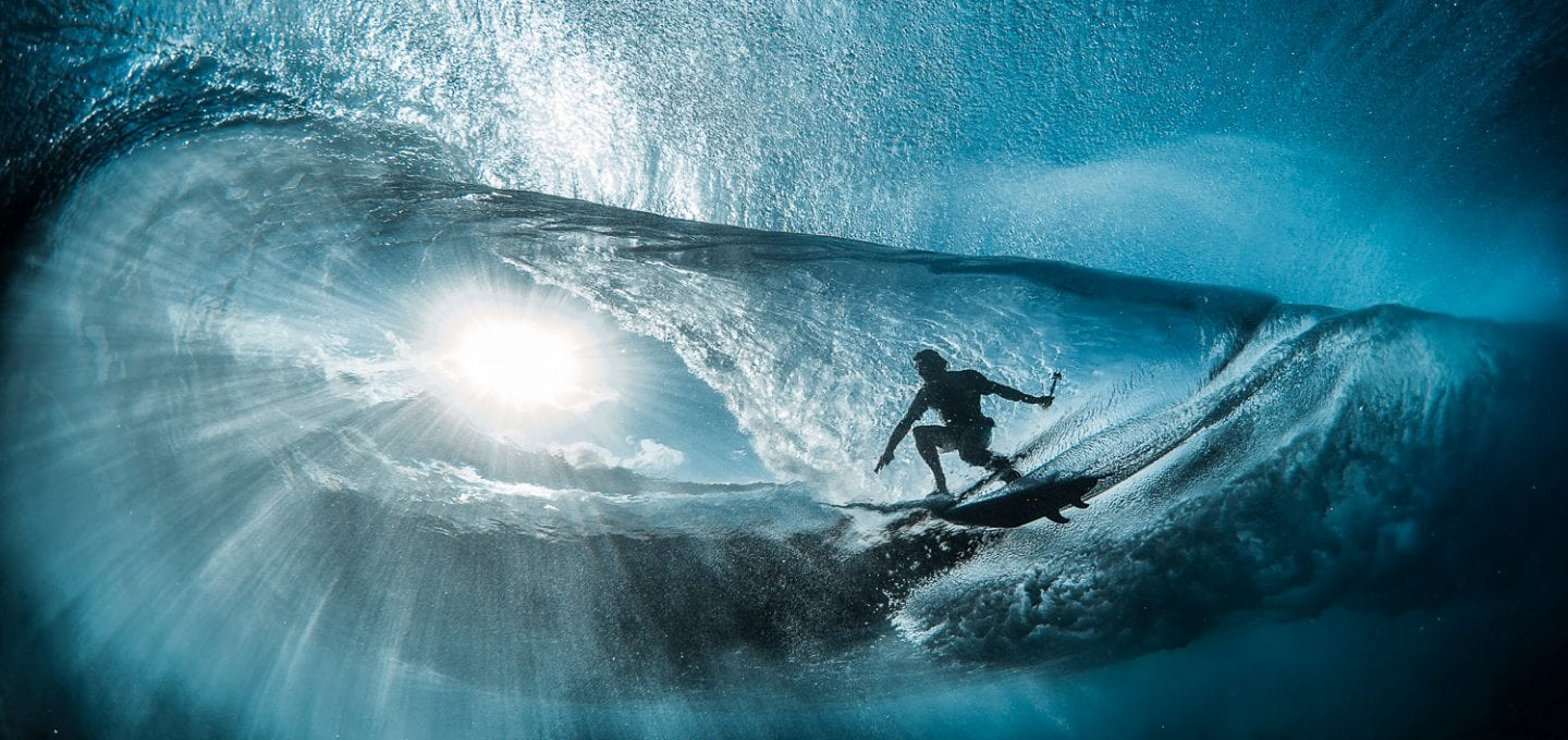 Ben Thouard ocean photography wave photograph Tahiti surfer