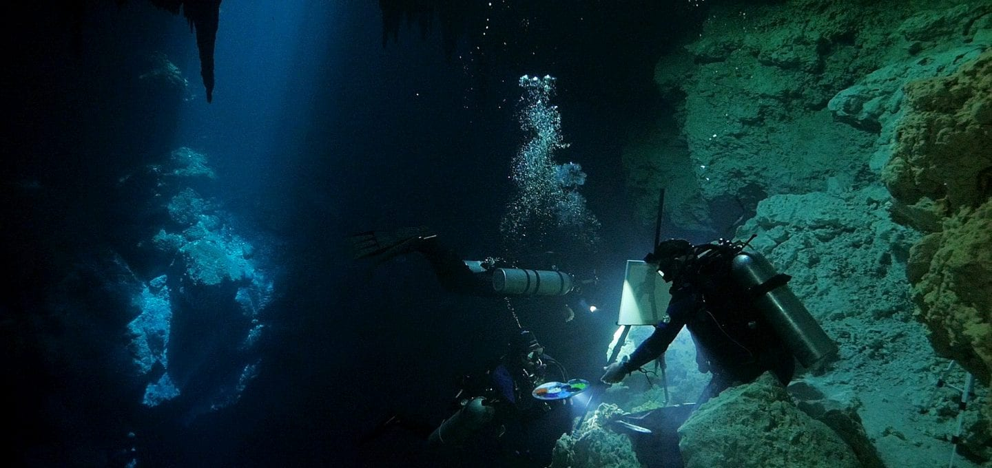 Cenotes Katy Fraser Underwater Artist Filmmaker Philip Gray diving