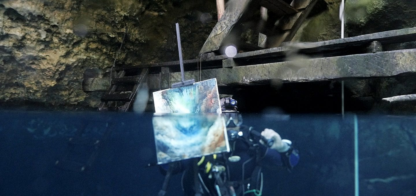 Cenotes Katy Fraser Underwater Artist Filmmaker Philip Gray surface