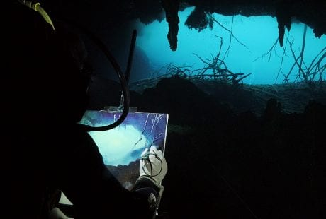 Cenotes Katy Fraser Underwater Artist Filmmaker Philip Gray painter