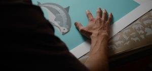 Conservation art endangered animals under the skin vaquita print
