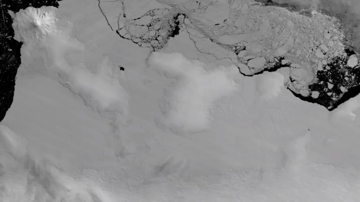 Antarctic Ice Shelf Eroding