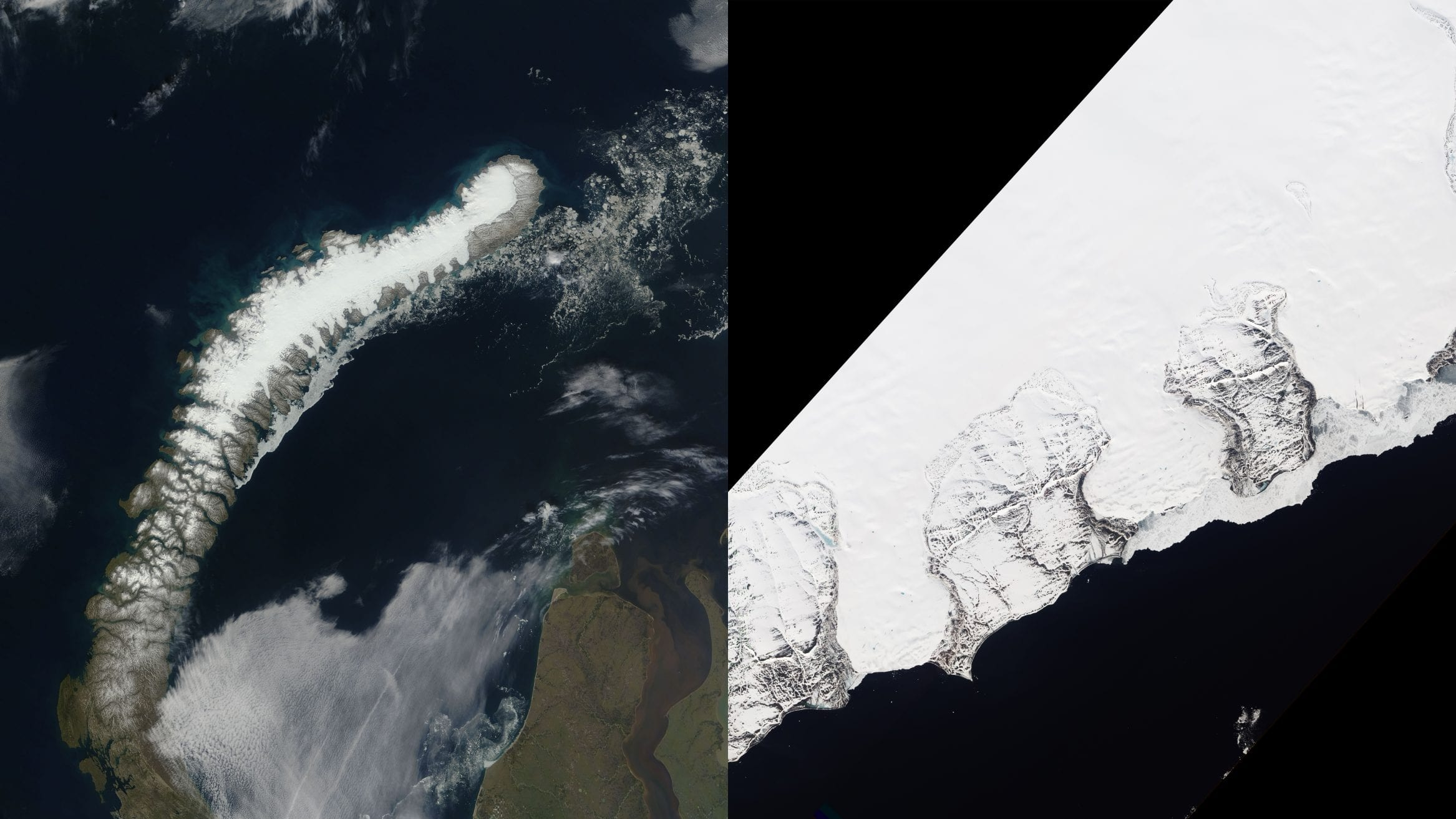melting glaciers russian arctic Novaya Zemlya