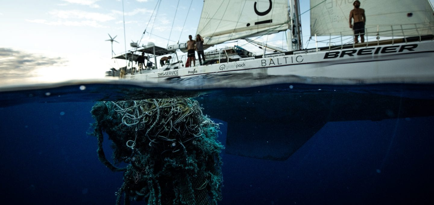The Vortex Swim Crew marine debris ocean microplastics fishing nets