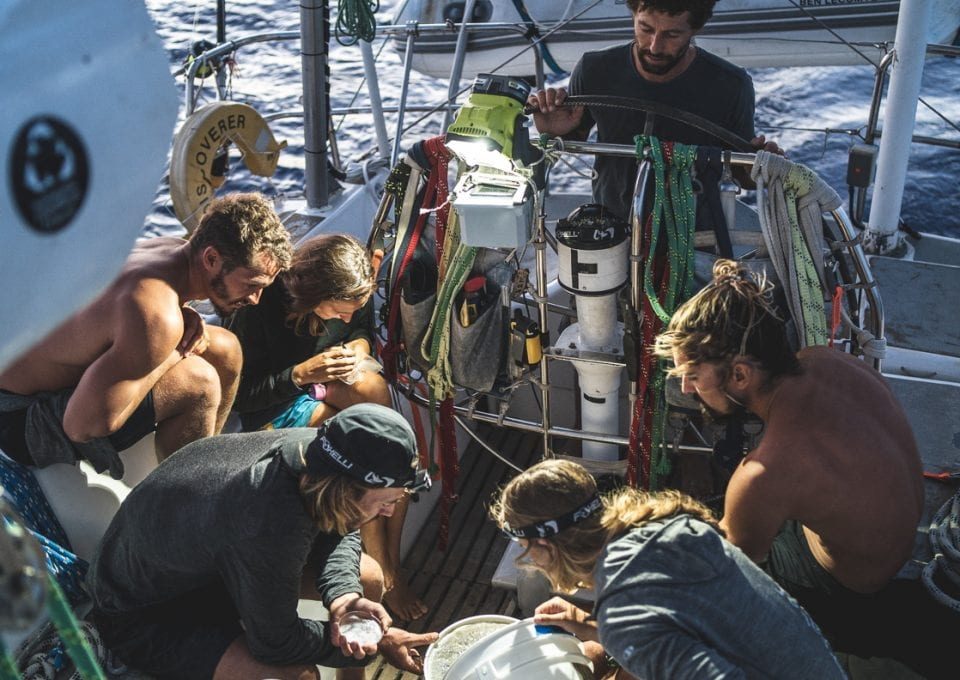 The Vortex Swim Crew marine debris ocean microplastics counting