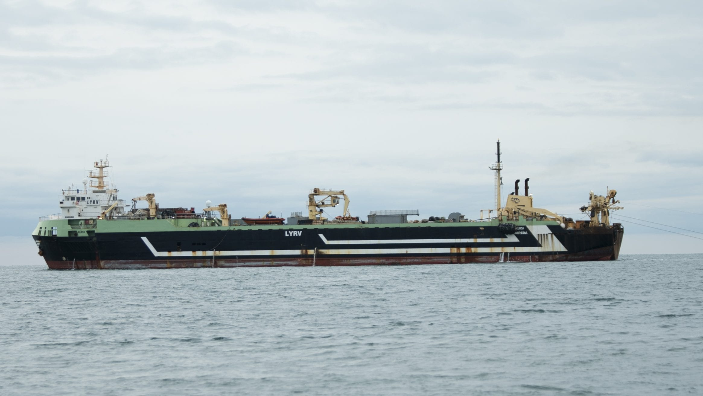 Margiris supertrawler fishing in the English Channel