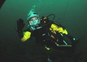Liz Bonnin Plastic Pollution diving