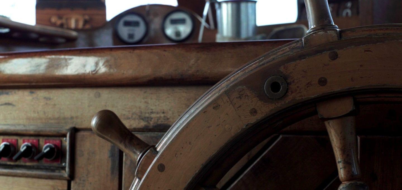 Rara Avis tall ship schooner sailing wheel