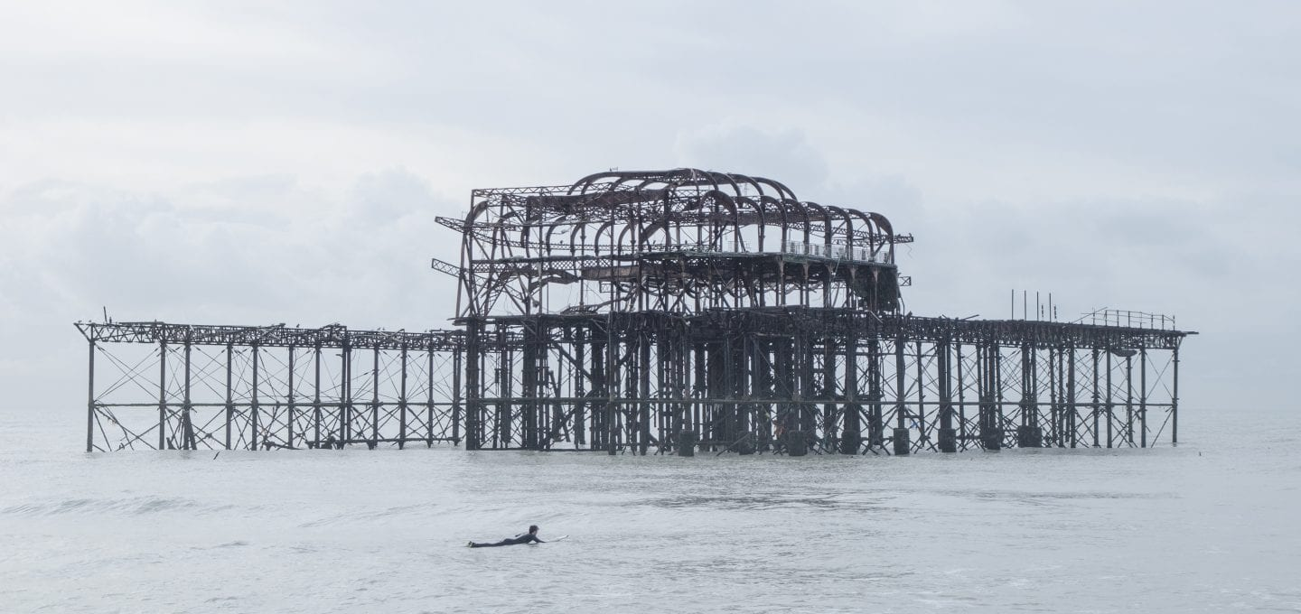 Brighton West Pier wreck Will Appleyard UK sea surfer