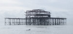 Brighton West Pier wreck Will Appleyard UK sea surfer