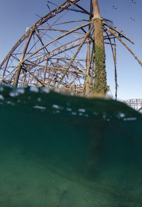 Brighton West Pier wreck Will Appleyard UK sea underwater