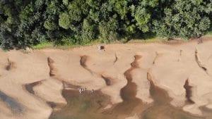 Essequibo kayaks drone shot Jon WIlliams