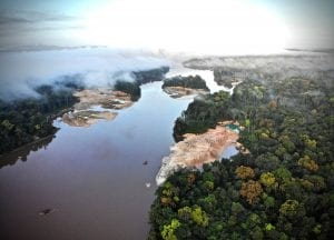Essequibo River drone shot
