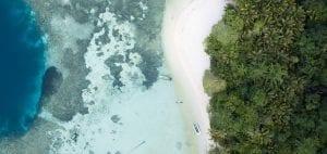 Indonesia plastic pollution Banda drone