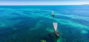 surfing in Madagascar boats